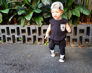 Cool Black Harem Pants Baby & Kids Drop Crotch Pants
