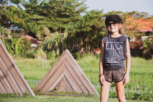 Hip Little Chick-NEW COLOUR RELEASED- Acid Wash Muscle Tee For The Girls