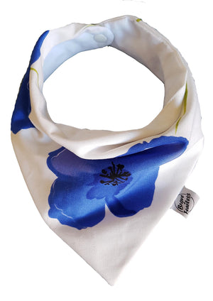 Poppy Party Bibdana Baby & Toddler Dribble Bib Blue & White