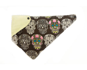 Sugar Skull Dribble Bibdana for Teething Baby & Toddlers