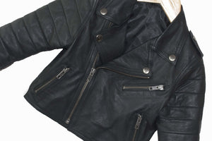 Brave & Fearless Youth Kids Leather Biker Jacket