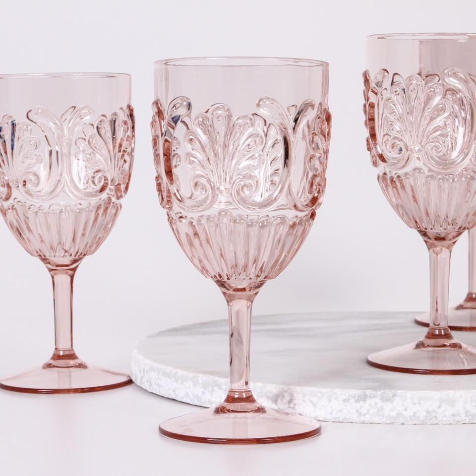 Blush Acrylic Wine Glass