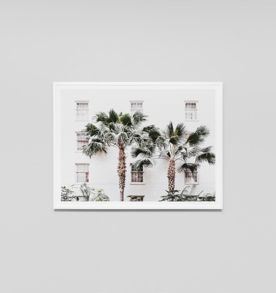 'Palm Resort' Framed Print