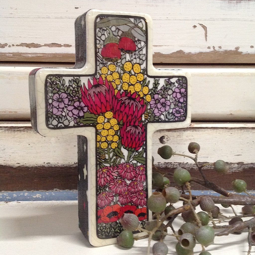 Handmade Cross - Small Wildflower