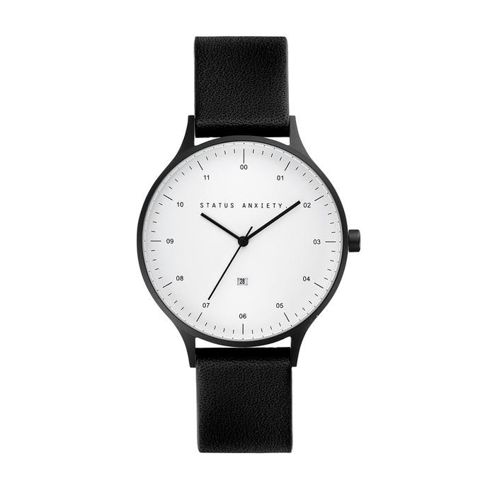 Inertia Watch - Matte Black/White Face/Black Strap