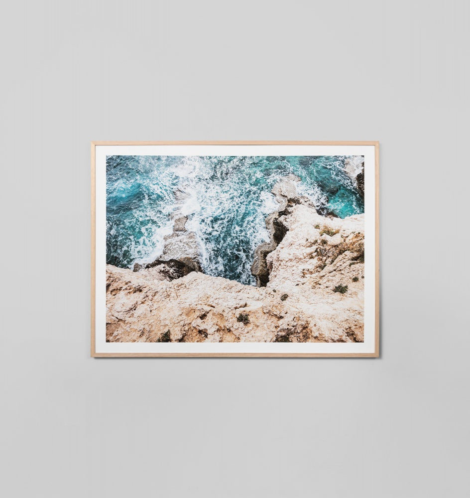 'Ragged Cliff' Framed Print