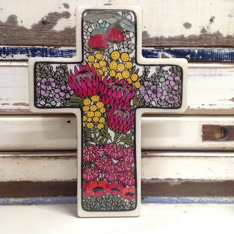 Handmade Cross - Large Wildflower