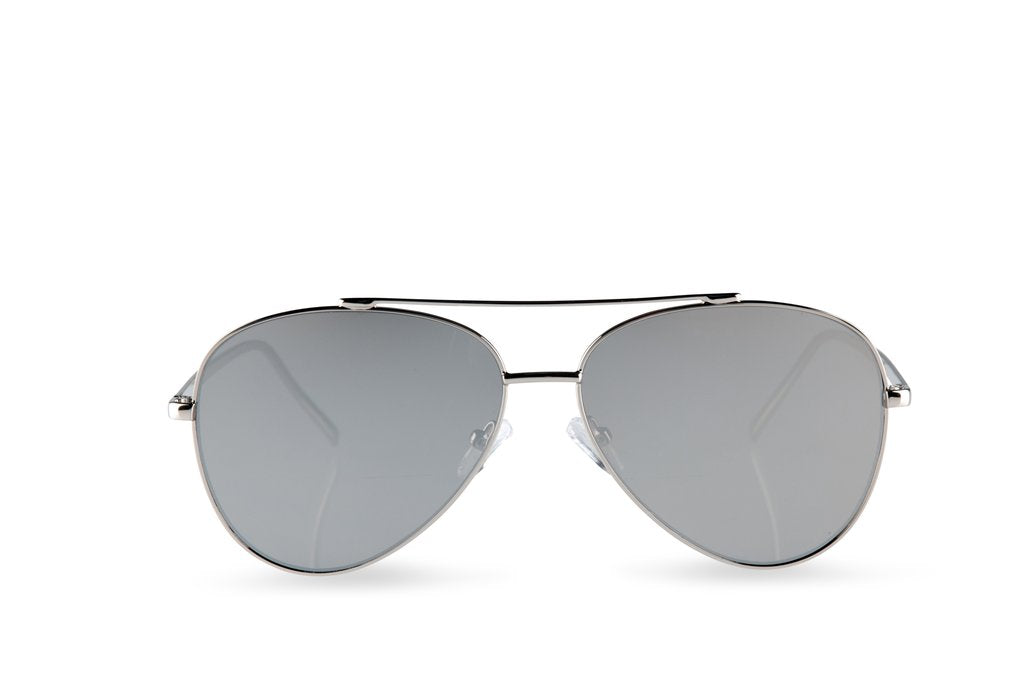 Mr Chips Silver Mirror Sunglasses