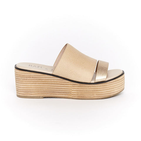 Taylor Platform in Sand/Metallic