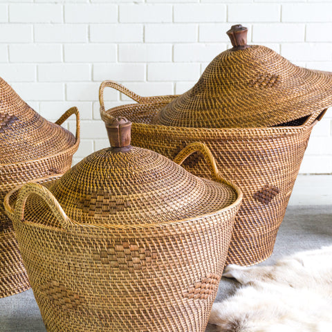 Oversized Angular Basket with Lid