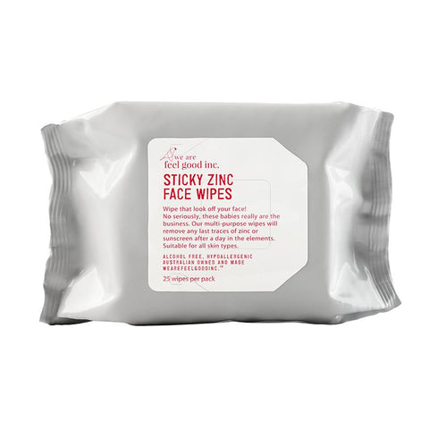 Feel Good Inc. Sticky Zinc Face Wipes