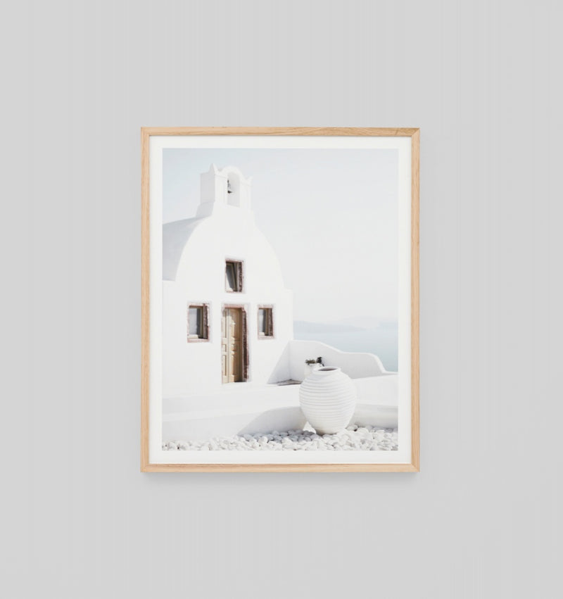 'Oia Village' Framed Print
