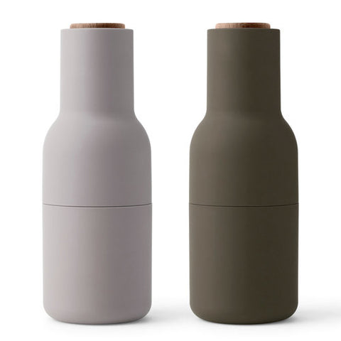 Bottle Grinders Hunting Green/Beige SET 2 by Menu