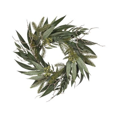 Faux Flowers - Aussie Christmas Wreath