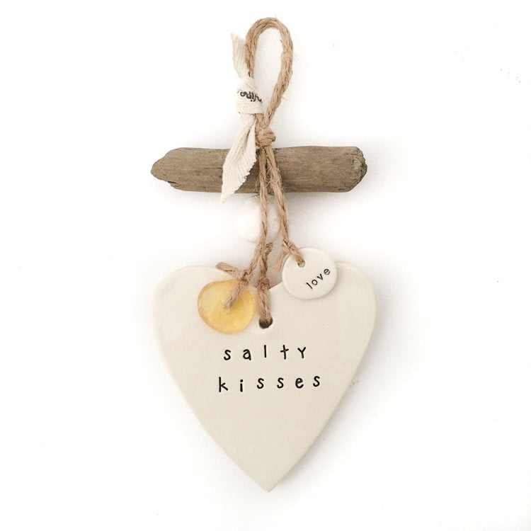 Salty Kisses Small Hanging Heart