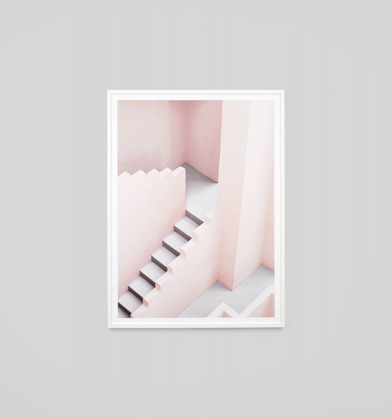 'Pastel Steps' Framed Print