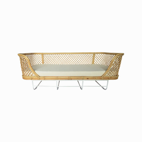 Sabina Rattan Day Bed w/Metal Legs