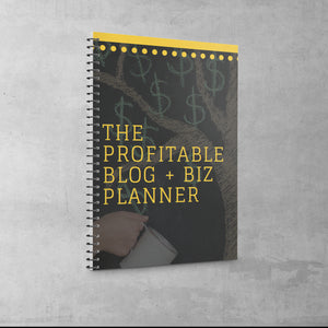 PLANNER: THE PROFITABLE BLOG + BIZ PROFIT PLANNER