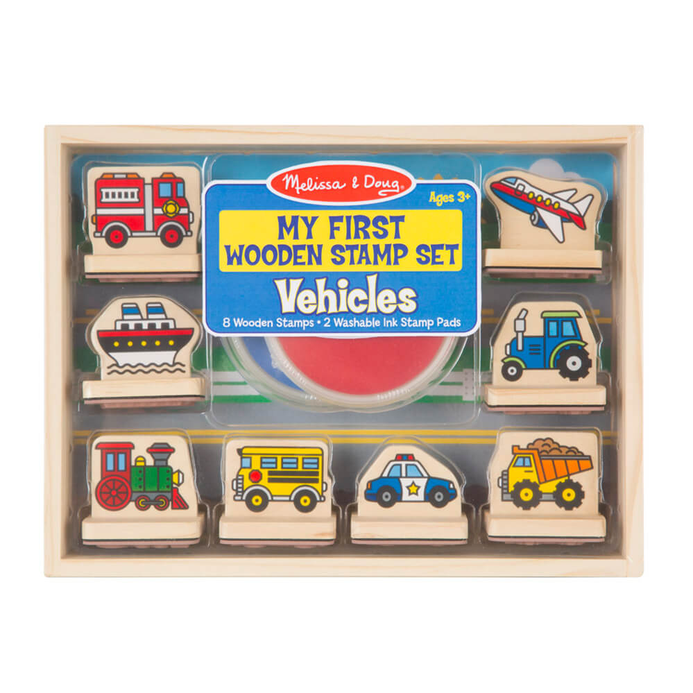 Melissa and Doug My First Vehicles Stamp Set