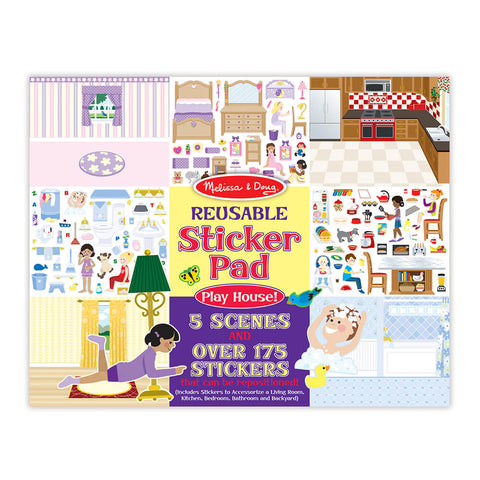Melissa and Doug Play House! Reusable Sticker Pad