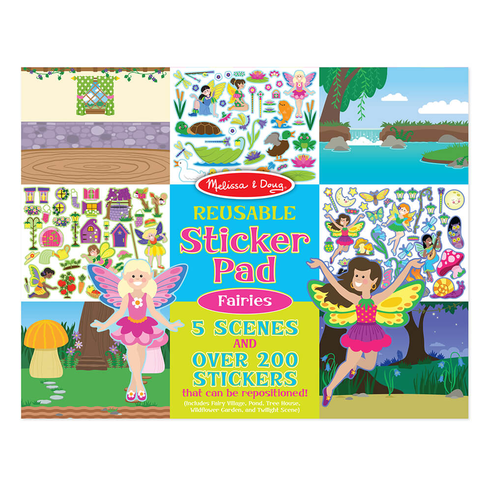 Melissa and Doug Fairies Reuseable Sticker Pad