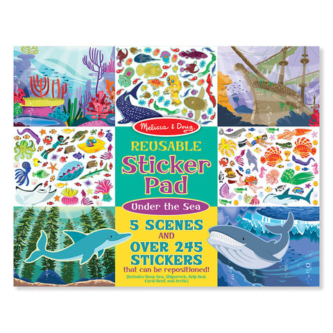 Melissa and Doug Under the Sea Reusable Sticker Pad