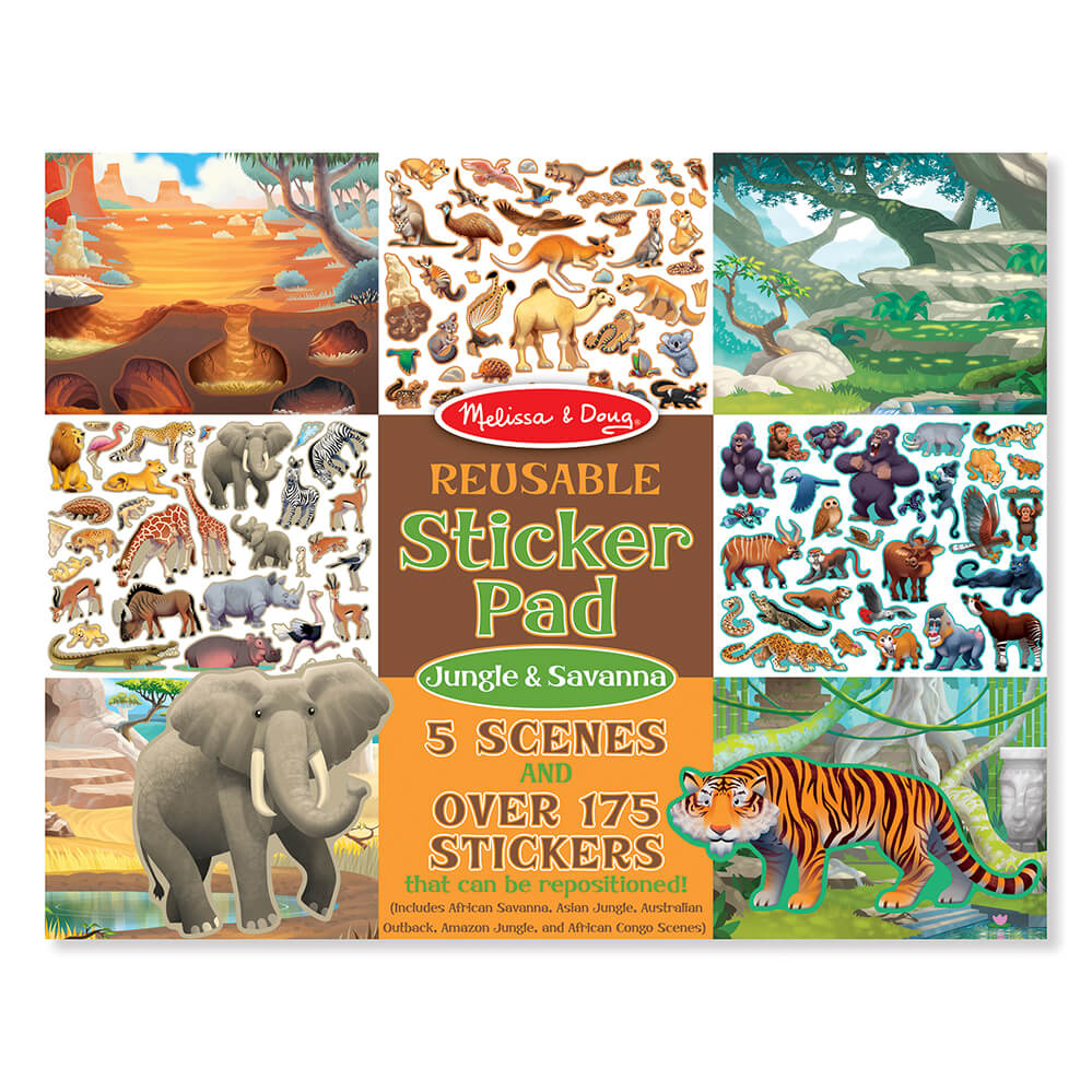 Melissa and Doug Jungle & Savanna Reusable Sticker Pad