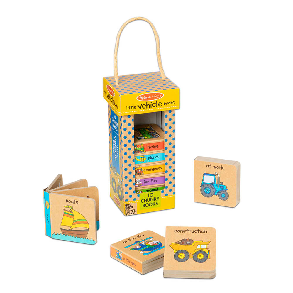 Melissa and Doug Little Vehicles Book Tower Natural Play