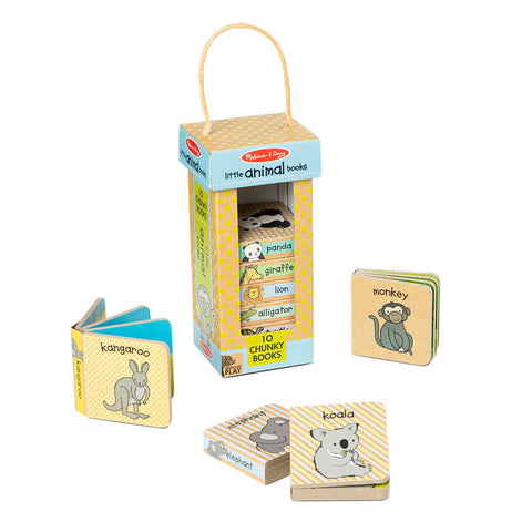 Melissa and Doug Little Animals Book Tower Natural Play