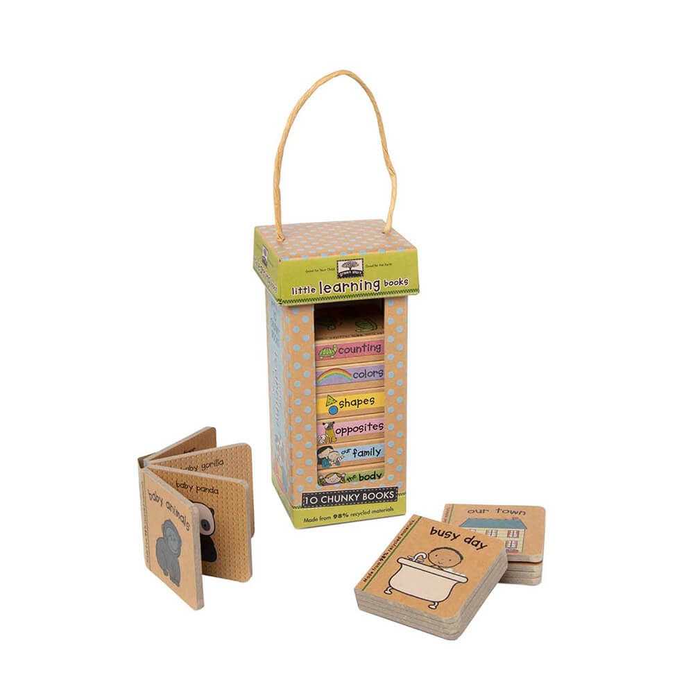 Melissa and Doug Little Learning Book Tower Natural Play