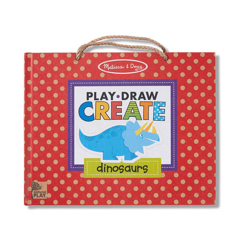 Melissa and Doug Play-Draw-Create Dinosaurs! Natural Play