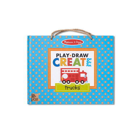 Melissa and Doug Play-Draw-Create Trucks! Natural Play