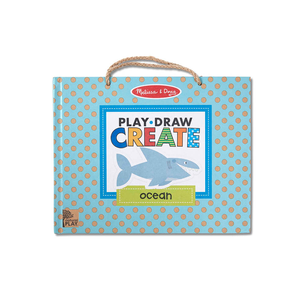 Melissa and Doug Play-Draw-Create Ocean! Natural Play