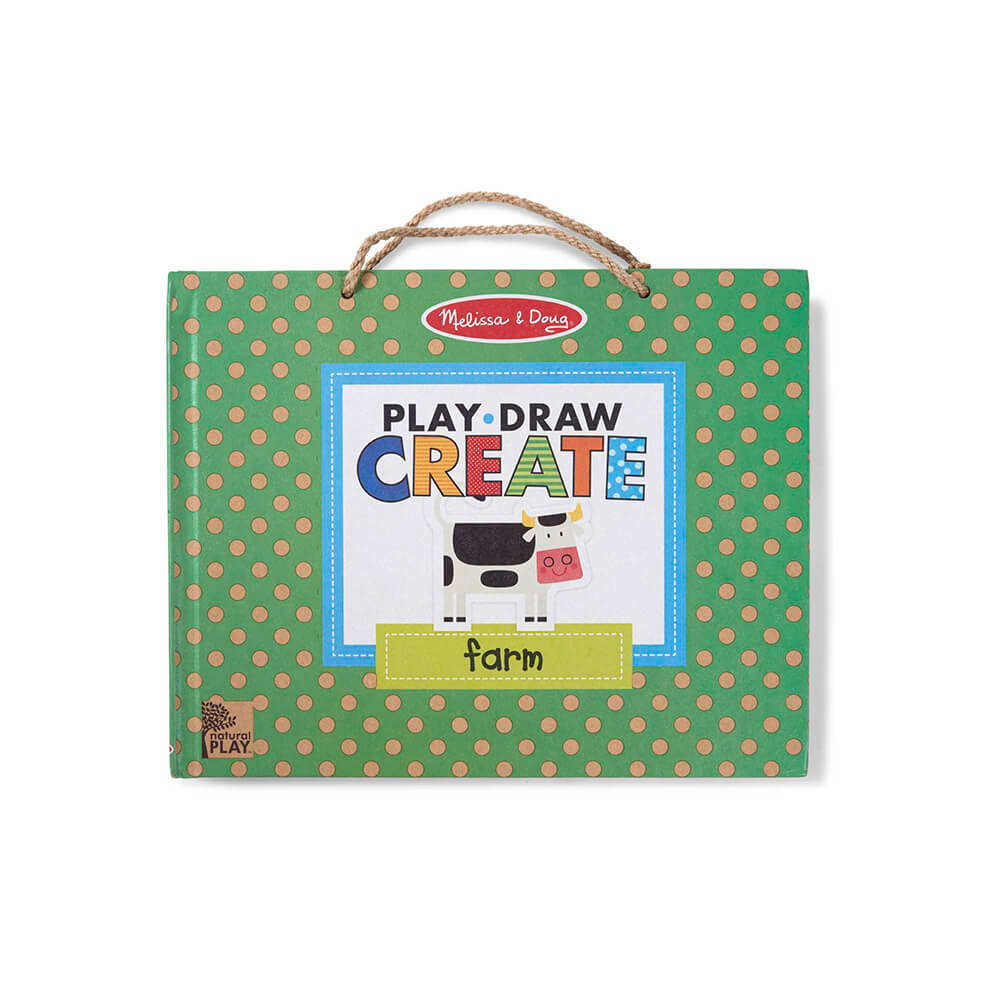 Melissa and Doug Play-Draw-Create Farm Fun! Natural Play