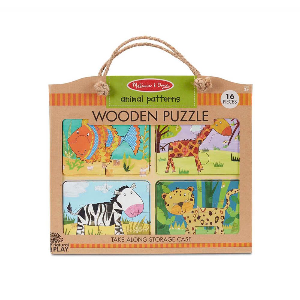 Melissa and Doug Animal Patterns Natural Play Wooden Puzzle