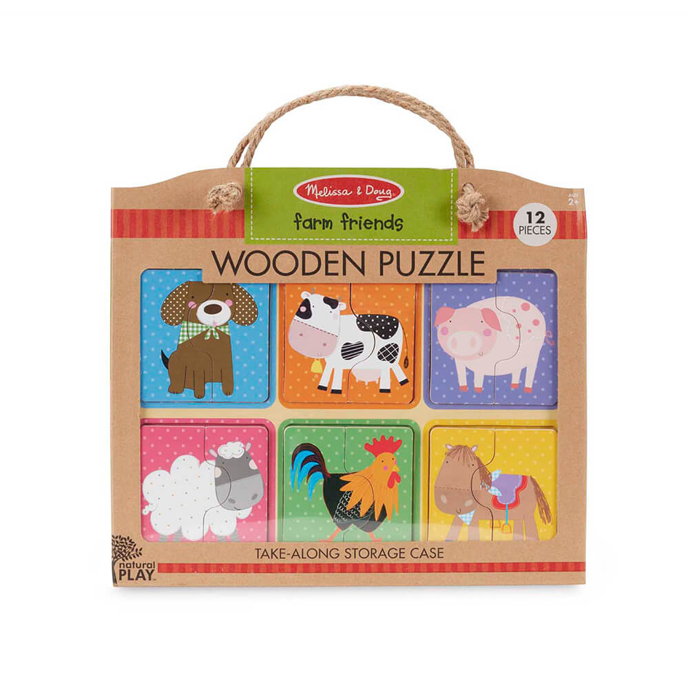 Melissa and Doug Farm Friends Natural Play Wooden Puzzle