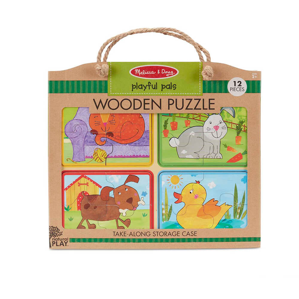 Melissa and Doug Playful Pals Natural Play Wooden Puzzle