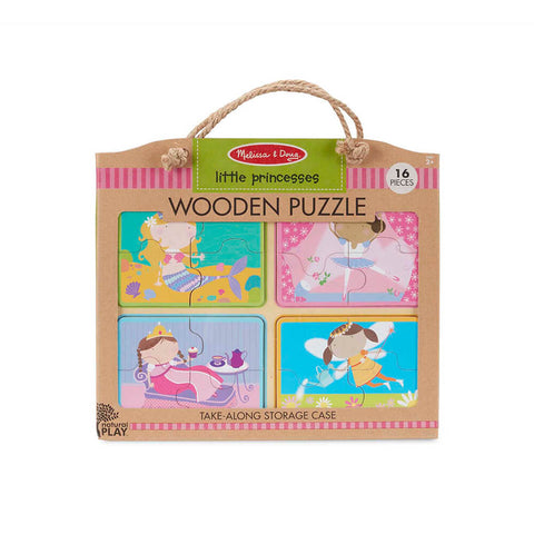 Melissa and Doug Little Princess Natural Play Wooden Puzzle