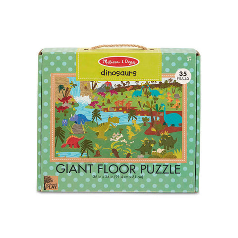 Melissa and Doug Dinosaurs 35pc Natural Play Floor Puzzle