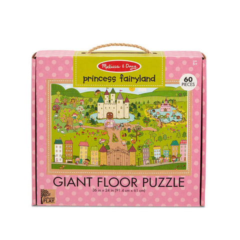 Melissa and Doug Princess Fairyland 60pc Natural Play Floor Puzzle