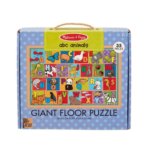 Melissa and Doug ABC Animals 36pc Natural Play Floor Puzzle