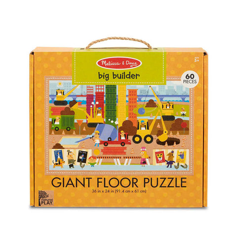 Melissa and Doug Big Builder 60pc Natural Play Floor Puzzle