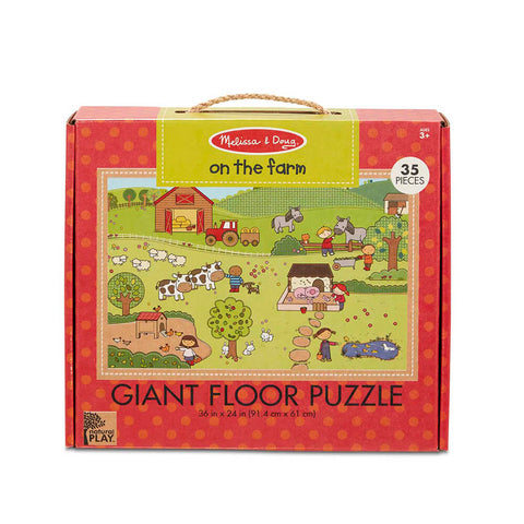 Melissa and Doug On the Farm 35pc Natural Play Floor Puzzle