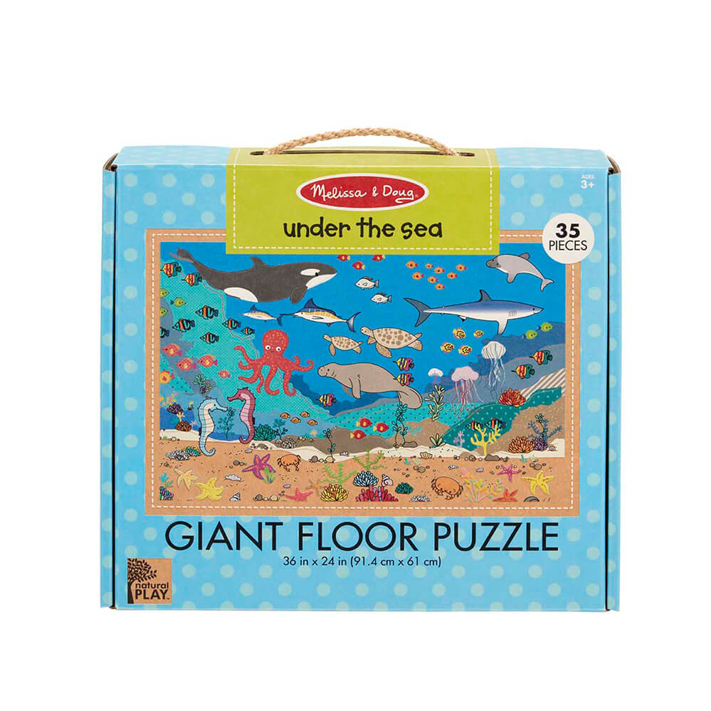 Melissa and Doug Under the Sea 35pc Natural Play Floor Puzzle