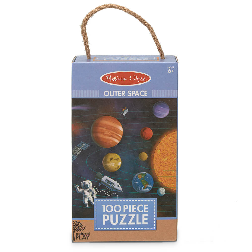 Melissa and Doug Outer Space 100pc Natural Play Floor Puzzle