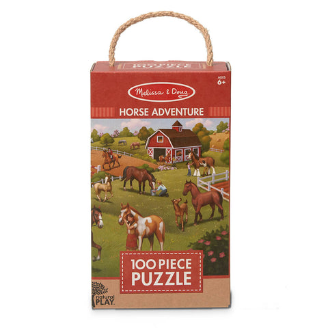 Melissa and Doug Horse Adventure 100pc Natural Play Floor Puzzle