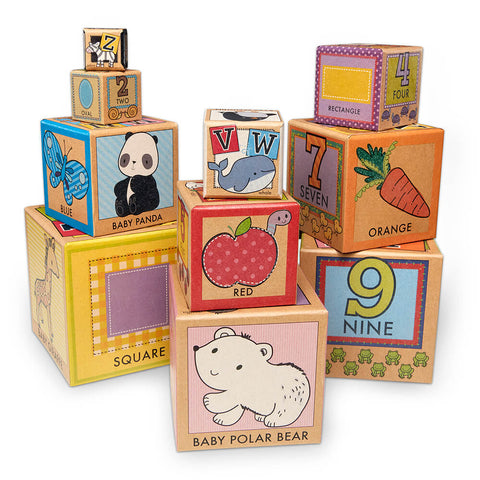 Melissa and Doug Learning, Stacking & Nesting Blocks Natural Play