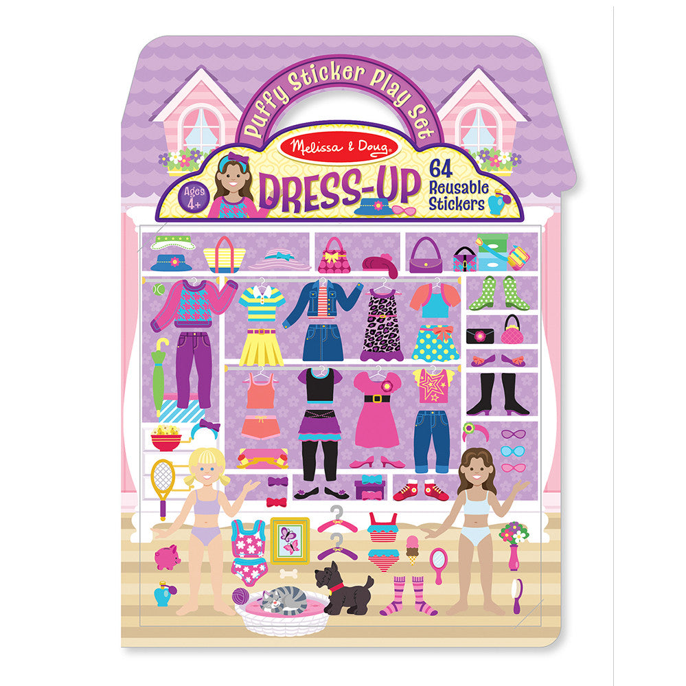 Melissa and Doug: Dressup Puffy Sticker Play Set - Melissa and Doug - Little Funky Monkey