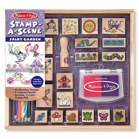Melissa and Doug: Stamp a Scene Fairy Garden - Melissa and Doug - Little Funky Monkey - 1
