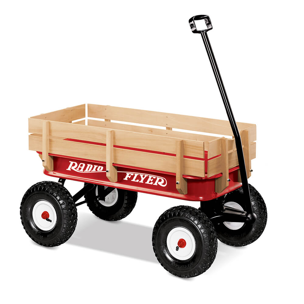Radio Flyer All Terrain Steel & Wood Wagon